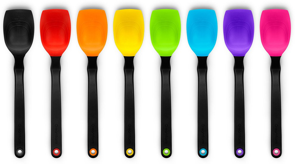 Dreamfarm Supoon Silicone Sit Up Scraping Spoon with Measuring Lines