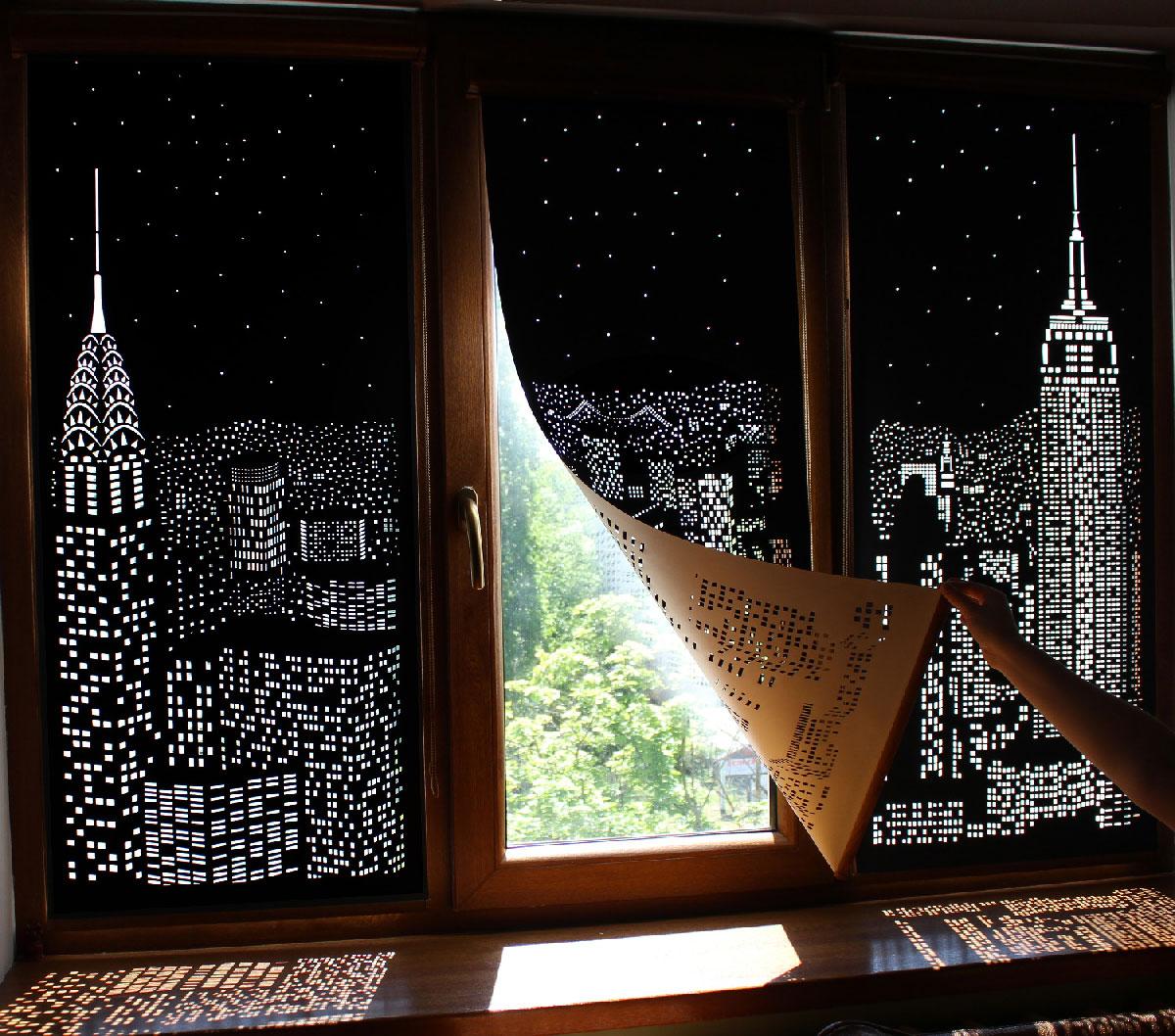 building lights curtain