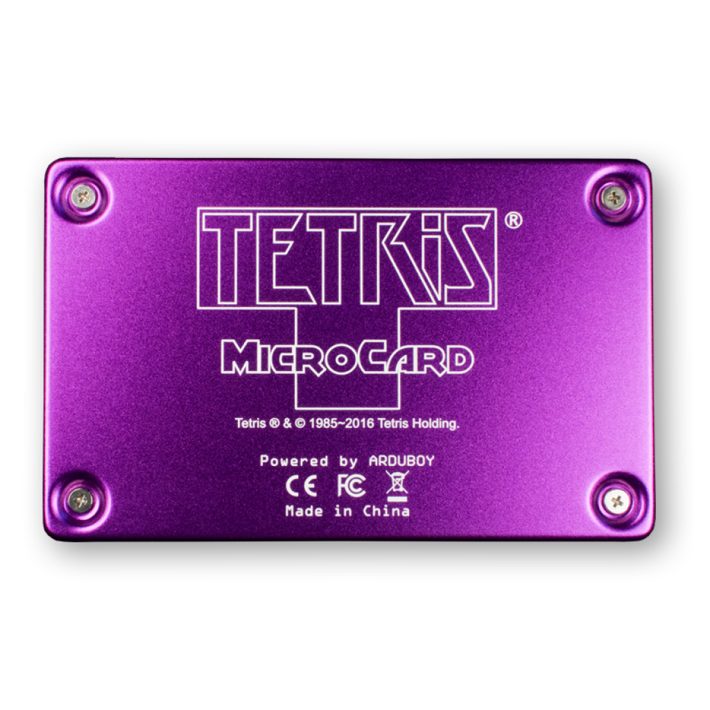 Tetris Game Card Back