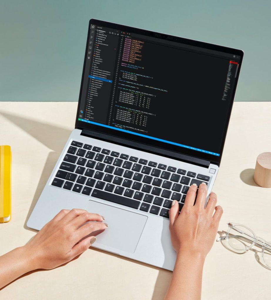 framework laptop front view